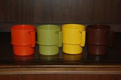 Tupperware Stackable Cups.  My parents had these.
