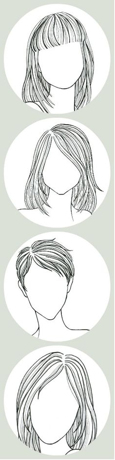 The Fail-Safe, Un-Screw-Up-Able, Take-This-to-The Salon Guide to Your Perfect Haircut || Your best look depends on your hair texture and your face shape. Pin this, if you have straight hair. (Double-click for exactly what to say to your stylist) sketch, face shape