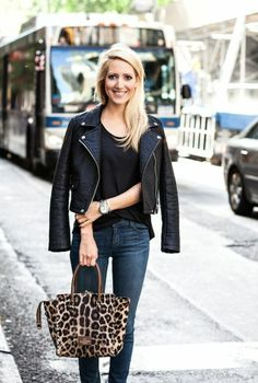 leather + leopard