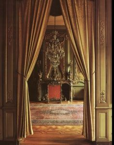 Curtains in doorway