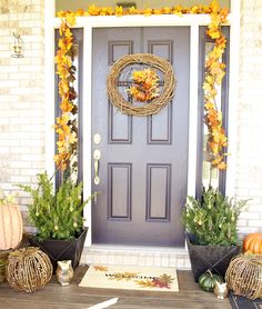 Pottery Barn Inspired Fall Porch - Laurie Jones Home