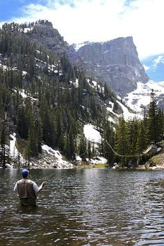 Kevin Fly Fishing on Dream Lake, CO by corymartin, via Flickr