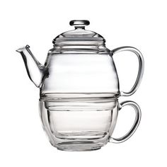 Teaposy: Charme Posy Set:  Love this glass teapot & cup combo set