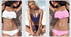 Up to 79% Off Tan-Through and Fringe Bikinis @SweetJack so trending this summer, you know you want one!!