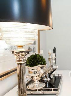 lamp & silver