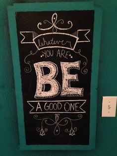 Chalk wall quote