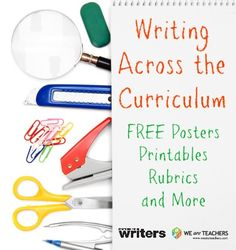 Free resources for Common Core and writing across the curriculum.