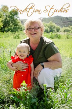grandma and granddaughter portrait, outdoor in Morrison Colorado