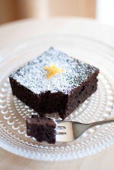 Scandi Home: Chocolate & Yuzu Brownies