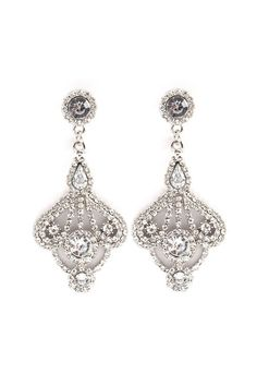 Leigh Chandelier Earrings in Silver on Emma Stine Limited