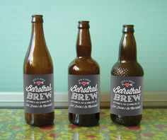 Custom Vintage Beer Labels for Weddings & Special Occassions. If we don't get a keg, this is a cute idea