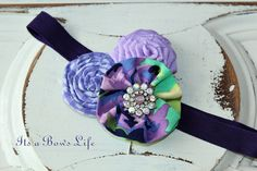 M2M Purple Bliss CollectionThree Flower Headband by ItsaBowsLife, $14.99