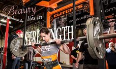 Beauty lies in strength. Hey, that's my trainer!!!! :)