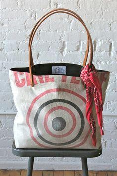 1950's era Bullseye Tote Bag