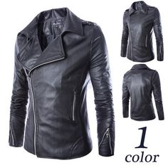 Biker Zip Mens Black Moto Leather Jacket | Sneak Outfitters