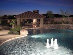 swimming pools, swim pool, ranch homes, dream, fountain