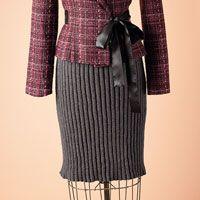 Graphite pencil skirt pattern | Love of Knitting Fall 2011 | Love of Knitting