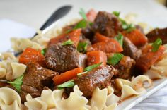 Crock Pot Hungarian Beef Goulash from our newsletter -- takes just 15 minutes to throw into the slow cooker! Hearty fall dinner for Phase 1.