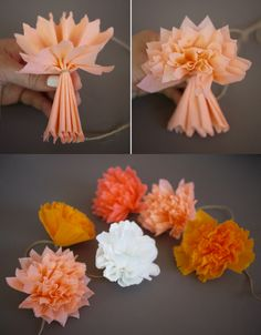 DIY Crepe Paper Pom Pom Garland Tutorial