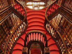 Lello Bookshop, Porto, Portugal.