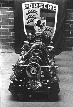 """Porsche motors """"Four Cam Row"""""""