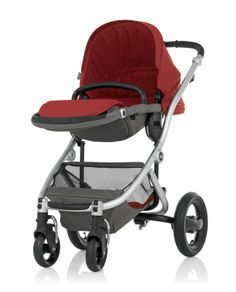 Britax Affinity Stroller in Red Pepper - Reversible seat with 4 recline positions #custom #baby #comfort