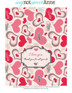 Free Printable - Just Because I Love you candy wrapper