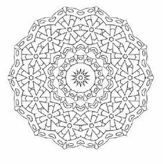 What a powerful design. Very intricate. Flower wheel of life mandala adult coloring page http://www.squidoo.com/mandala-coloring-adultcoloring