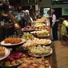 Pintxos San Sebastián. The Basque word for the Spanish tapas, and very delicious.  And ask about Txacoli!!!!