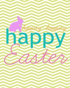 Free Chevron Easter Printable #chevron #easter #bunny #printable #free #spring