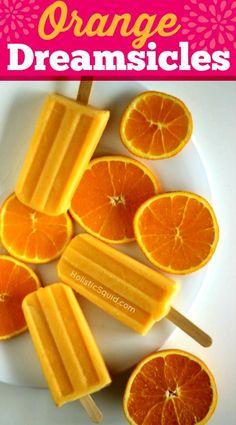 LOVE the ingredients in this real food version of Orange Dreamsicles