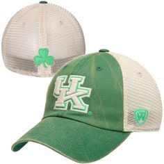 Kentucky Wildcats Top of the World Vintage Luck 1Fit Hat - Green