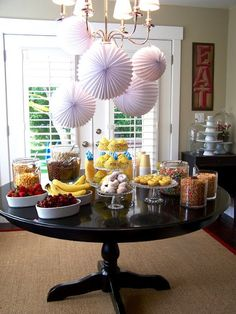 I love this idea. A cereal buffet - breakfast party. Would be fun for a women's morning tea or brunch.