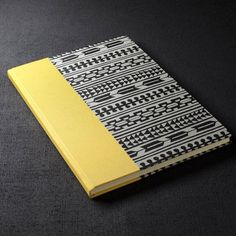 Hand bound small hardback notebook covered with Japanese screen print,