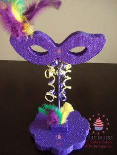 Hey, I found this really awesome Etsy listing at https://www.etsy.com/listing/159128479/3-mardi-gras-mask-centerpieces