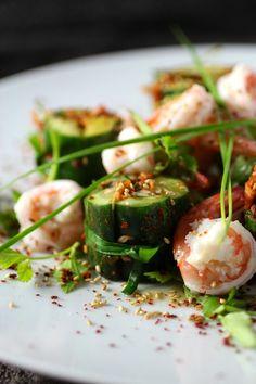 Stuffed Cucumber Kimchi with Shrimp - A Cool Summer Appetizer #SummerFest