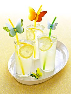 Set guests aflutter with straws that celebrate the season's most beautiful bugs