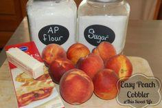 Easy Peach Cobbler #Recipe http://thissweetlifeofmine.com/easy-peach-cobbler-recipe/?utm_campaign=coschedule&utm_source=pinterest&utm_medium=Tara%20Mitchell%20(This%20Sweet%20Life)&utm_content=Easy%20Peach%20Cobbler%20Recipe