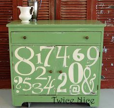 Twice Nice: Green Dresser