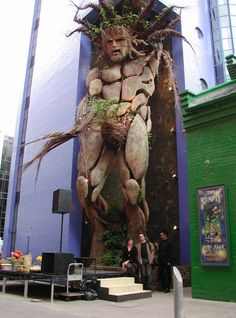 The Custard Factory, in Digbeth, just south of Birmingham city centre, UK, is a brand new arts and cultural venue. Green Man/Cernunnos, partly made from living plants, and towering above the main roadway through the site.
