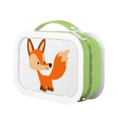 Cute Friendly Cartoon Fox Lunch Box #lunchbox #fox #friendly #cartoon