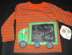 Back to School Chalkboard truck shirt size 3T by LemonadeNation, $27.00
