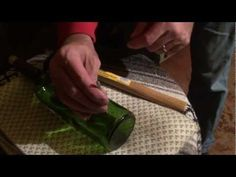 Lighted wine bottles - or how to drill holes in a bottle.