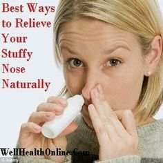 Natural Ways To Relieve Nasal Congestion