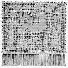 Charted Leaping Deer Design For Filet Crochet or Cross-Stitch