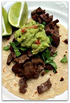 Carne Asada.  Now I know what to do with that bison sirloin that is thawing in the fridge!