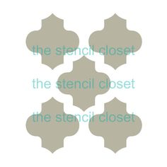 12x12 Large Moroccan stencil by TheStencilCloset on Etsy, $23.00
