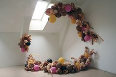 balloon installation. Love the colors and idea of clusters.