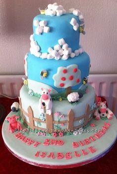 Coolest Farm Scene Birthday Cake... This website is the Pinterest of birthday cake ideas