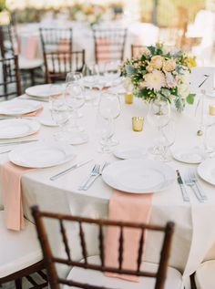 Yellow and Peach Wedding Table | photography by http://www.daniellepoff.com/